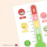 The Feelings Thermometer ⎜Feelings ⎜Printable Worksheets ⎜Emotional development