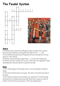 The Feudal System Crossword