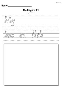 The Fidgety Itch by Lucy Davey- Text to Self Writing Response Activity Worksheet