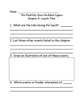 The Field Day from the Black Lagoon comprehension questions