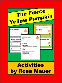 The Fierce Yellow Pumpkin Literacy Activities