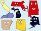 The Fifty United States Clip Art Collection