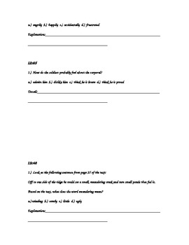 The Fighting Ground Question Packet