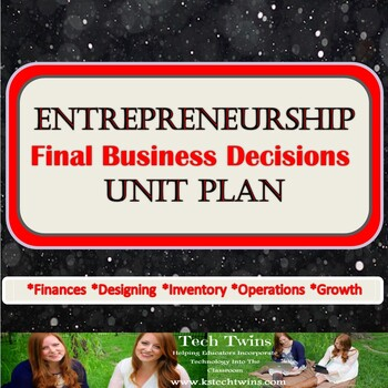 Entrepreneurship Unit- The Final Business Decisions