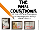 The Final Countdown ABC Writing Prompts for the End of the School Year