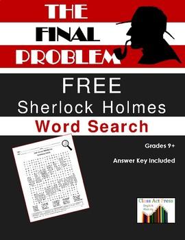 The Final Problem: Sherlock Holmes Word Search (FREE!)