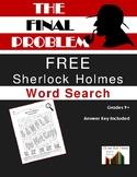 The Final Problem: Sherlock Holmes Word Search FREE