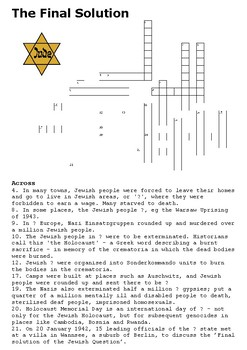 The Final Solution Crossword
