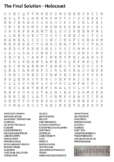 The Final Solution - Holocaust - Nazi Germany Word Search