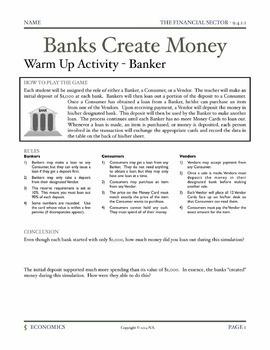 The Financial Sector (Unit Bundle) - Includes Seven Complete Lessons