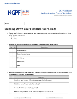 The Fine Print: Breaking Down Your Financial Aid Package