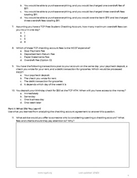 The Fine Print: Deciphering Your Checking Account Agreement