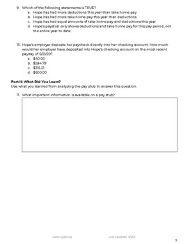 The Fine Print: Reading Your Pay Stub
