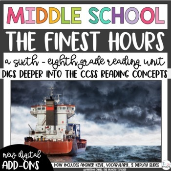 The Finest Hours Non-Fiction Middle School Reading Unit Novel Study