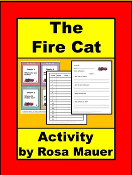 The Fire Cat Literacy Task Cards