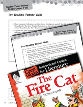 The Fire Cat Pre-Reading Activities