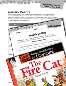 The Fire Cat Vocabulary Activities