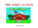 The First 10 Days of School Professional Development Powerpoint k-5