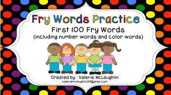 The First 100 Fry Words ~ Powerpoint Practice