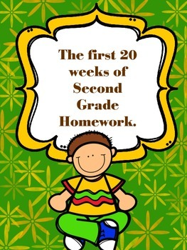 The First 20 Weeks of Second Grade Homework