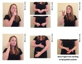 The First 48 Verbs / Action (ASL) Sign Language Vocab Card