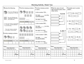 Math in Focus, The First 5 Weeks of Math Morning Routines , Grade 3