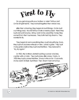 The First Airplane: Reading and Writing Comprehension for Grades 1–3