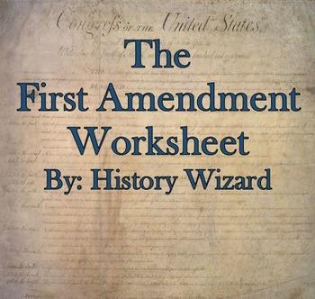 The First Amendment Internet Worksheet