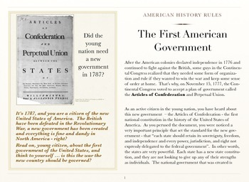 The First American Government
