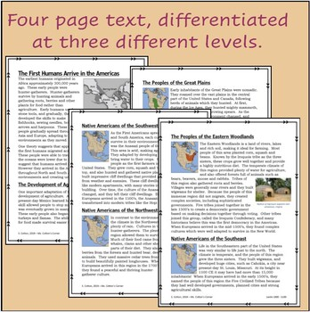 The First Americans - Differentiated text - 3 levels - 5 days of activities