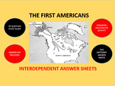 The First Americans: Interdependent Answer Sheets Activity