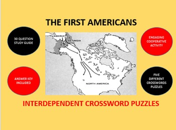 The First Americans: Interdependent Crossword Puzzles Activity