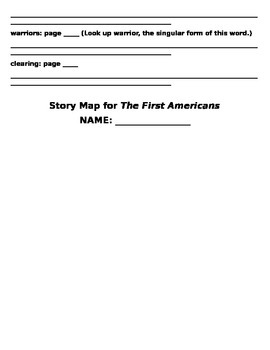 The First Americans Literature Packet