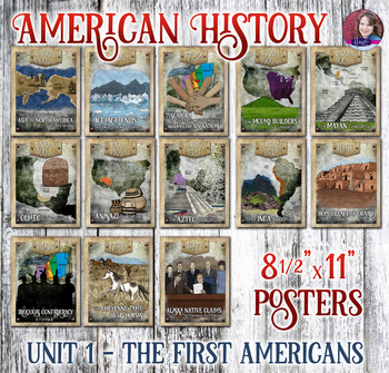 Native Americans Poster Set - US History