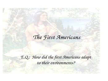 The First Americans- Powerpoint