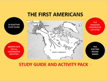The First Americans: Study Guide and Activity Pack