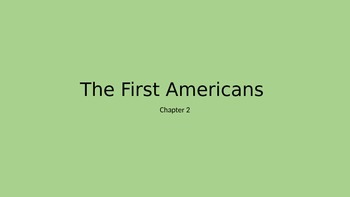The First Americans Vocab Power Point (Horizons Book)