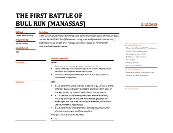 The First Battle of Bull Run Lesson Plan