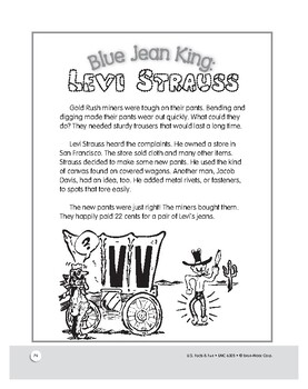 The First Blue Jeans: Made for Gold Miners: Reading Unit for Grades 1–3