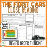 The First Cars Reading Comprehension Passages and Questions