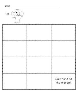The First Christmas (Bible) Write the Room/Word Hunt: Labeled & Blank Versions