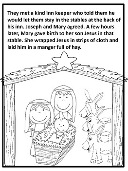 The First Christmas Story and Coloring Book