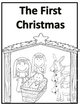 the first christmas story and coloring book by fun teach tpt. Black Bedroom Furniture Sets. Home Design Ideas