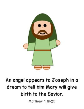 The First Christmas Teaching Cards, Posters, or Storybook for Bible Learning