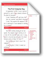 The First Computer Bug (Gr. 3/Week 34)