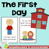 The First Day ~ Back to School Reader & timeline {Young Readers, ESL, EFL}
