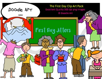 The First Day Clipart Pack