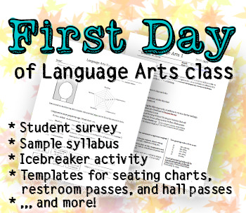 The first day of Language Arts class: Student survey, sample syllabus, and more