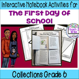 HMH Collections Grade 6 Collection 5 The First Day of School Activities