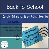 Back to School: The First Day of School Desk Notes and Gifts